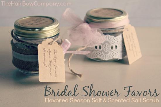 diy bridal shower favors