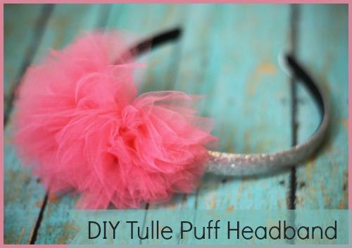 diy tulle puff headband