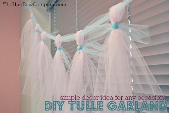 easy diy tulle garland